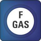 Icon representing the fluorinated gas sector under the GHGRP.