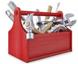 Picture of a box filled with tools